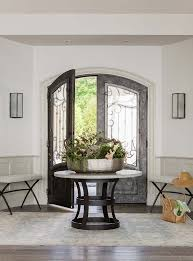 Black Foyer Table Glass Top Foyer Table Contemporary Entrance Intended For