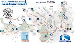 Marathon Route Map by Foot Levelers Blue Ridge Marathon Foot Levelers Blue Ridge Marathon