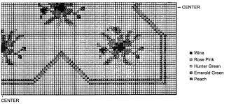 roses rug in crocheted needlepoint pattern crochet patterns