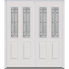 Home Depot Steel Doors Exterior Mmi Door 72 In X 80 In Carrollton Right 2 1 2 Lite 2 Panel