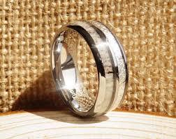 Deer Antler Wedding Rings by Mens Antler Ring Etsy