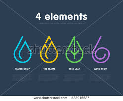 nature elements water earth air stock vector 533915527