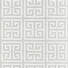 schumacher greek key stripe tan wallpaper