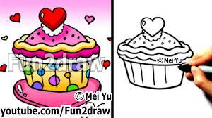 dessert fun2draw pencil and in color dessert fun2draw