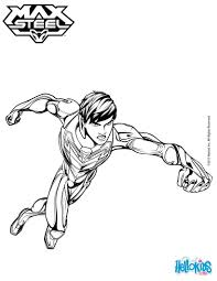 max steel without his helmet coloring pages hellokids com