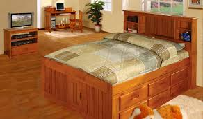 Queen Size Bed With Trundle Bedroom Surprising Captains Bed Queen For Master Bedroom Decor