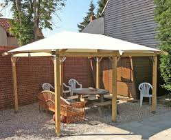 Patio Gazebo by Attractive Patio Gazebo Canopy Feat Beige Upholstered Sheer