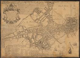 Map Copley Square Boston by Unrest In Boston 1765 1776 Norman B Leventhal Map Center