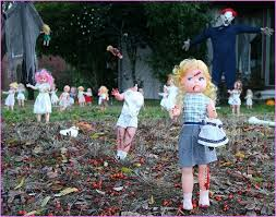 Outdoor Yard Decor Ideas Scary Outdoor Halloween Decorations The Home Design 5 Halloween
