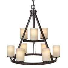 Hampton Bay Home Decorators Collection Hampton Bay Bristol 3 Light Nutmeg Bronze Reversible Chandelier
