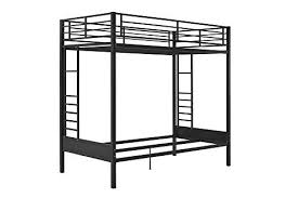 Futon Bunk Bed With Mattress Dhp Jasper Gunmetal Premium Twin Over Futon Bunk Bed With Black