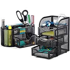 Desktop Hutch Organizer Amazon Com Halter Steel Mesh 2 Piece Desk Organizer Set Oval