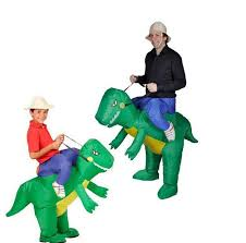 Inflatable Halloween Costume Inflatable Dinosaur Costume Cosplay Fan Operated Animal Dino