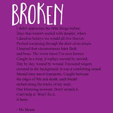 Comforting Love Poems Broken A Short Rhyming Poem By Ms Moem On The Topic Of Grief And