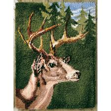 Latch Hook Rugs White Tail Buck Latch Hook Rug Kit