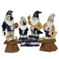 new england patriots fan gnome bench