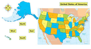 United States Map With Oceans by Amazon Com Carson Dellosa United States Map Bulletin Board Set