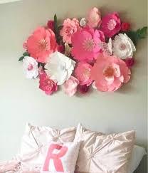 Pink Peonies Nursery Giant Paper Flowers Wall Decor Baby Nursery Big Kid