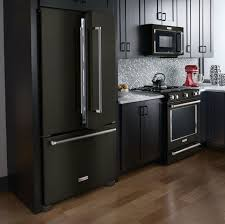 what color appliances go with black cabinets 45 the black stainless steel kitchen appliances cabinet