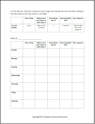 between sessions addiction therapy worksheets addiction recovery