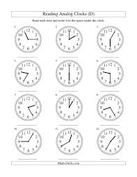 reading clocks worksheet free worksheets library download and