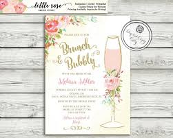 brunch bridal shower invitations brunch and bubbly bridal shower invitation brunch invite