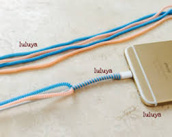 4 pieces spring spiral wrap around cord protectors for iphone