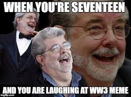 Lucas Meme - laughing george lucas imgflip