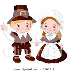 clipart thanksgiving pilgrims royalty free vector