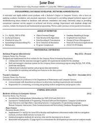 Php Developer Resume Database Developer Resume Template Resume Builder
