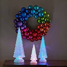 3 color changing led tree set with remote sam s club
