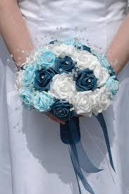 wedding flowers glasgow shop white aqua teal wedding bridal bouquet w