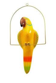 parrot home decor large paper mache hanging bird parrot toucan home decor folk art