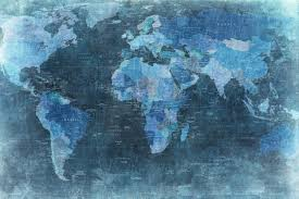 world map blue r10773 wall murals wallpaper rebel walls uk