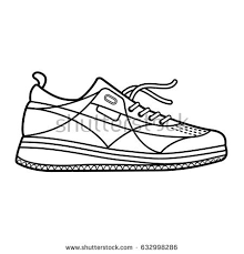 hand drawn sketch sport shoes sneakers stock vector 682164127
