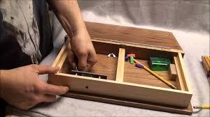 wooden book art box youtube