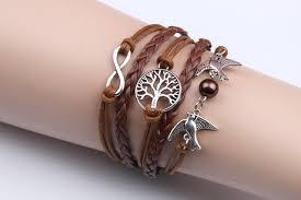 vintage infinity bracelet images Women vintage owl love anchors rudder infinity bracelet multilayer jpg