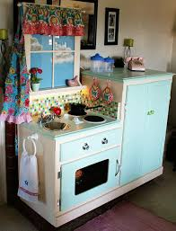 dishfunctional designs furniture upcycled into dollhouses - Play Kitchen From Furniture