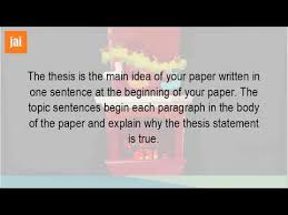 what is the thesis what is topic sentence and thesis statement youtube