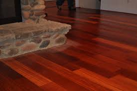 cherry wood floors and fireplace for the home