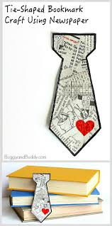 father u0027s day craft tie shaped bookmark using tear art buggy and