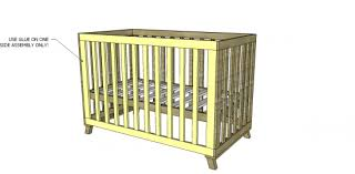 Crib Mattress Frame Free Diy Furniture Plans To Build A Land Of Nod Inspired Low Rise