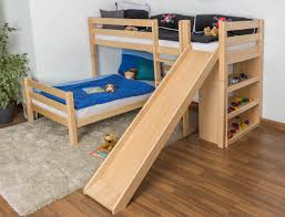 Kids Bunk Bed With Slide And Stairs Unacco - Slide bunk beds