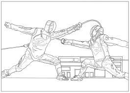 sport fencing sport coloring pages for kids to print u0026 color
