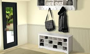 entryway bench with coat rack and storage attractive small shoe