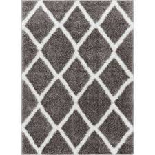 Grey Area Rugs Shag 5 X 7 Area Rugs Rugs The Home Depot