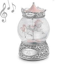 personalized carousel musical snow globe add your message
