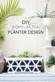 planter design diy geometric planter design give new life to an old planter