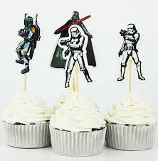 wars decorations 24pcs the wars cupcake topper picks birthday wedding party