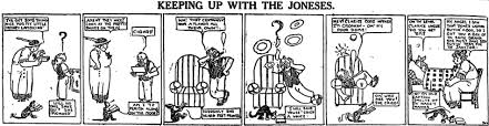 keeping up with the joneses keeping up with the joneses newspaper comic strips